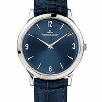 Jaeger-LeCoultre Platinum Manual winding Blue Arabic numerals 34mm new Master Ultra Thin