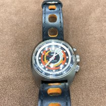 Vulcain Nautical Stahl 42mm Orange Keine Ziffern