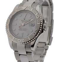 Rolex Used 168622_used Yachtmaster - Steel Case with Platinum...
