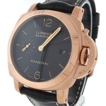 Panerai Rose gold Automatic Brown Arabic numerals 42mm pre-owned Luminor Marina 1950 3 Days Automatic