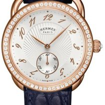 Hermès Rose gold Automatic Silver 34mm new Arceau