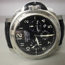 Panerai Pam 196 Luminor Daylight 44mm S/s Chronograph Box/book...