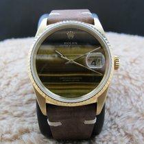 Rolex DATEJUST 16238 18k Yellow Gold ORIGINAL Tiger Eye Dial