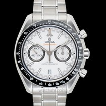Omega Speedmaster Master Chronometer Chronograph White Steel...