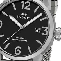 TW Steel Stahl 48mm Quarz MB12 neu