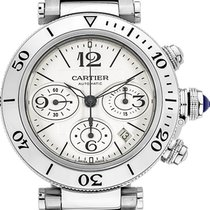 Cartier Pasha Seatimer Steel 42.5mm White Arabic numerals United States of America, California, Moorpark