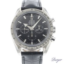 Omega Speedmaster Broad Arrow Aço 42mm Preto