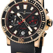 Ulysse Nardin Maxi Marine Diver Rose gold Black United States of America, New York, New York