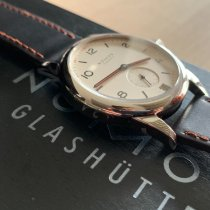 NOMOS Club Datum pre-owned 38,5mm White Date Leather
