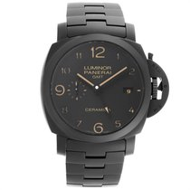 Panerai Luminor 1950 3 Days GMT Automatic pre-owned 44mm Black Date GMT Ceramic