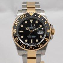 Rolex GMT-Master II Zlato/Zeljezo 40mm Crn Bez brojeva