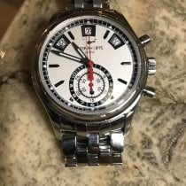 Patek Philippe Steel Automatic White No numerals 40.5mm pre-owned Annual Calendar Chronograph