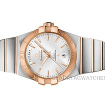 Omega Constellation Day-Date Gold/Steel 38mm Silver No numerals United States of America, Florida, Aventura