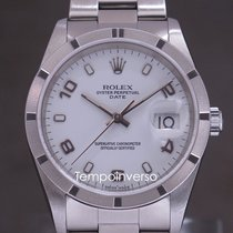 Rolex Oyster Perpetual Date Steel 34mm White Arabic numerals United Kingdom, London, Paris, Brussels & Barcelona face to face delivery only - Other destination shipping with brinks and DHL Express