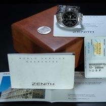 Zenith El Primero Chronograph occasion 38mm Noir Chronographe Date Tachymètre Acier