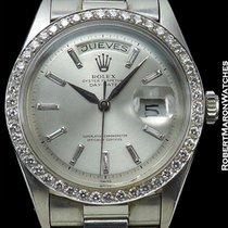 Rolex Vintage Platinum Day Date 1804 Diamond Bezel Baguette...