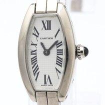 Cartier Mini Tonneau Lanieres 18k White Gold Watch W15363w3...