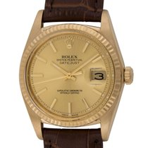 Rolex : Datejust 36mm :  1601 18k :  18k Gold : champagne dial...