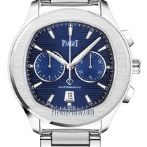 Piaget Polo S Staal 42mm Blauw
