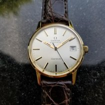 Omega Vintage Geneve Automatic 1960s 9k Solid Gold Mens Watch...