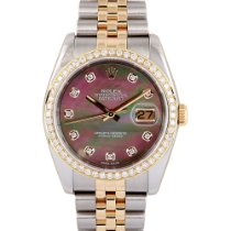Rolex Datejust Gold/Steel 36mm Mother of pearl No numerals UAE, Dubai
