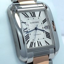 Cartier Tank Anglaise pre-owned 37mm Silver Date Steel