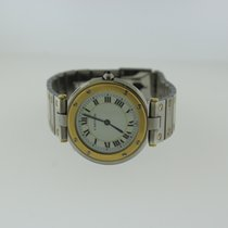 Cartier Quartz pre-owned Santos (submodel) White