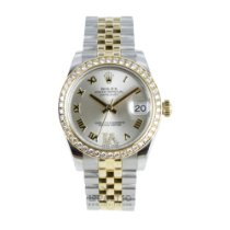 Rolex Lady-Datejust tweedehands 31mm Goud/Staal