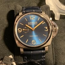 Panerai Luminor Due Titânio 45mm Azul Árabes