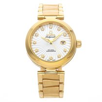 Omega De Ville Ladymatic Yellow gold 34mm Mother of pearl No numerals