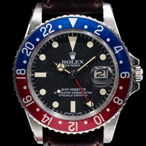 Rolex GMT-Master pre-owned 40mm Black Date GMT Leather