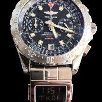 Breitling Skyracer gebraucht 43,5mm Schwarz Chronograph Datum GMT/Zweite Zeitzone Stahl