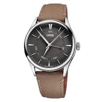 Oris Artelier Pointer Day Date Steel 40mm Grey