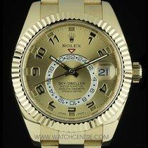 Rolex 18k Yellow Gold Unworn Champagne Dial Sky-Dweller...