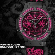 Hublot BIG BANG BRODERIE SUGAR SKULL FLUO HOT PINK 41 mm
