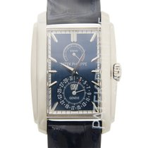 百達翡麗 (Patek Philippe) Gondolo White Gold Blue Manual Wind...
