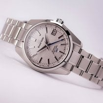 "Seiko Grand Seiko Automatic Hi Beat GMT Silver ""Mt. Iwate"" Dial"