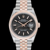 Rolex Datejust Or rose 36.00mm Gris