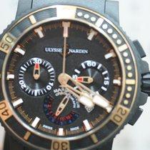 Ulysse Nardin Diver Black Sea pre-owned Black Chronograph Date Rubber
