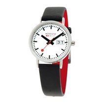 Mondaine Steel 33mm Quartz A669.30008.11SBO MONDAINE CLASSIC BIG DATE Bianco Nero 33mm new