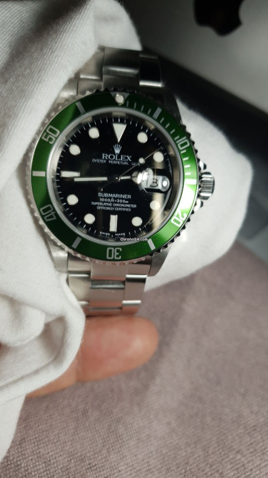 online store 3bcd4 36a8f Rolex Submariner GREEN BEZEL ANNIVERSARY