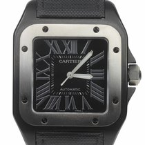 Cartier Santos 100 Steel 38mm Black Roman numerals United States of America, New York, Lynbrook