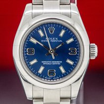 Rolex Oyster Perpetual 26 Acero 26mm Azul Árabes