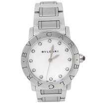 Bulgari pre-owned Automatic 33mm Mother of pearl Sapphire Glass