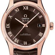 Omega De Ville Hour Vision Rose gold 41mm Brown