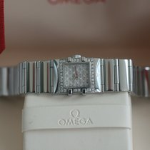 ODM Steel Quartz Omega Constellation Quadra 20mm Diamond Bezel & Dial 2006 new