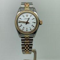 Rolex Oyster Perpetual 26 Acero y oro 26mm Blanco Romanos