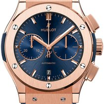 Hublot Rose gold Automatic Silver new Classic Fusion Blue