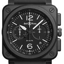 Bell & Ross Ceramic Automatic Black new BR 03-94 Chronographe