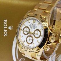 Rolex Daytona 18k Yellow Gold Chronograph Watch & Box D 116528